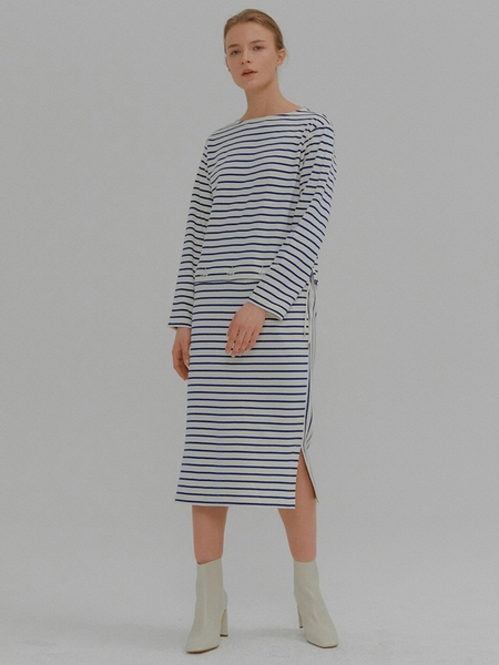 EENK Mia Striped Seperable Dress - Blue