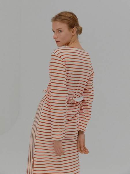 EENK Mia Striped Separable Dress - Red