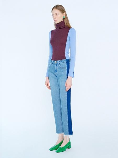 EENK Kolly Side Striped Pants - Denim