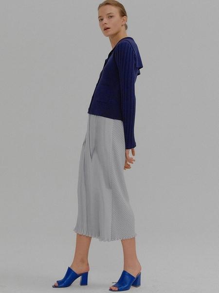 EENK Moriah Pleated Skirt - White