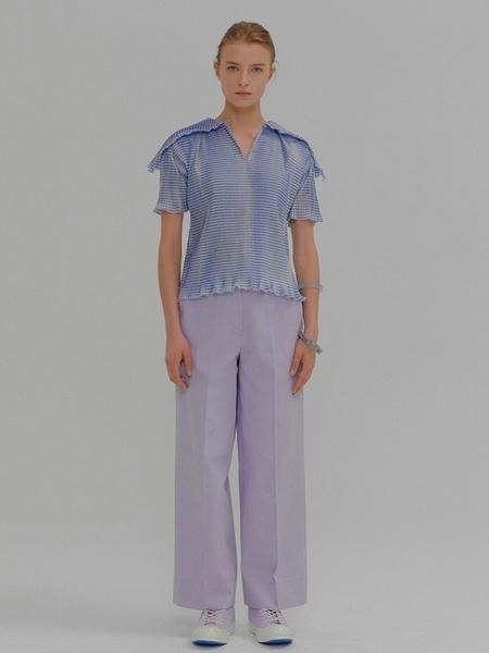 EENK Maju Straight Fit Stitched Pants - Violet