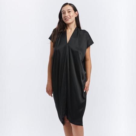 Miranda Bennett Silk Charmeuse Everyday Dress - Black