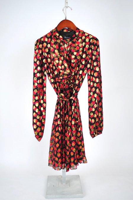 Saloni Tilly Dress - Scarlet Daisy