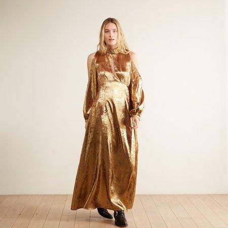 By Abigail Love Metallic Maxi Dress - Gold