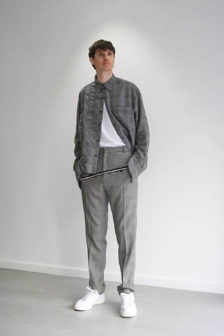CMMN SWDN D'angelo Raw Edge Trousers - Houndstooth Check