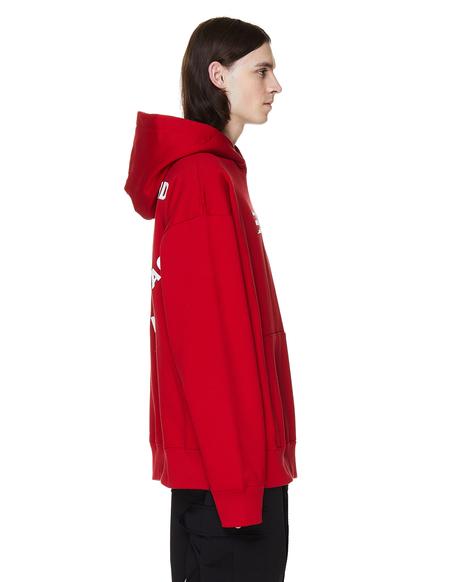 Mastermind World Embroidered Cotton Hoodie - Red