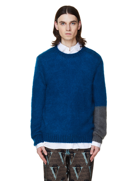 JohnUNDERCOVER Mohair Sweater - Blue/Grey