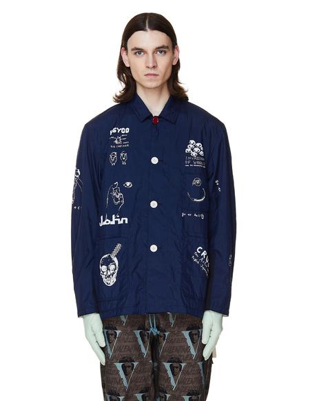 JohnUNDERCOVER Printed Jacket - Navy Blue