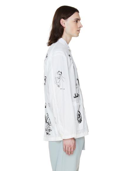 JohnUNDERCOVER Nylon Printed Jacket - White