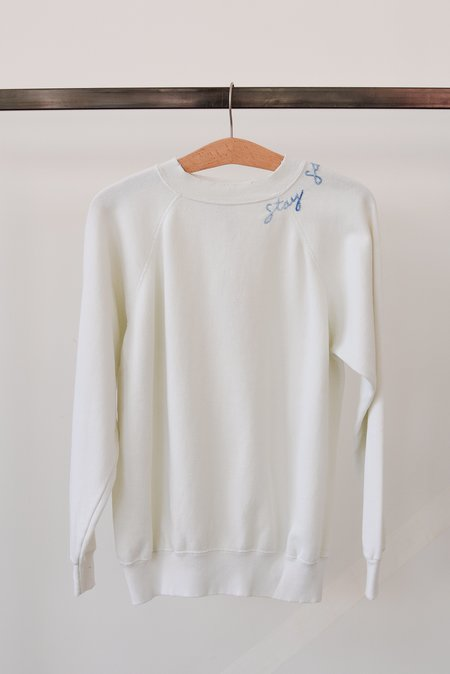 I Stole My Boyfriends Shirt Stay Salty Sweatshirt - Pearl