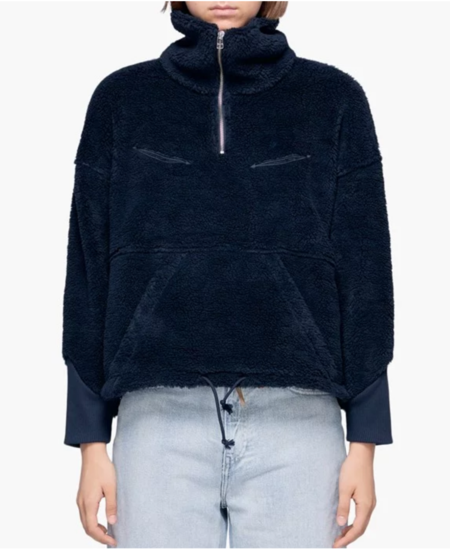 Levi's Made & Crafted Sherpa Track Popover - Navy Peony