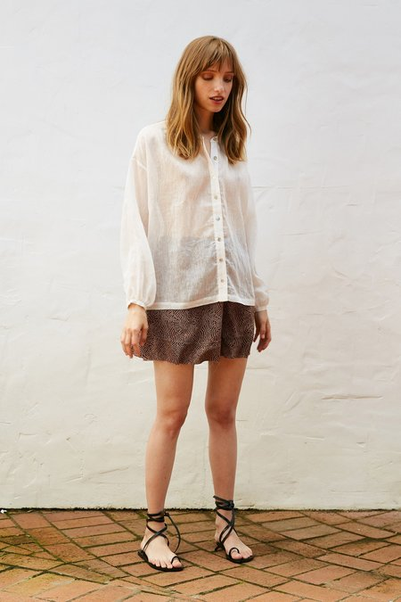 MARLE Hunter Shirt Silk - Ivory