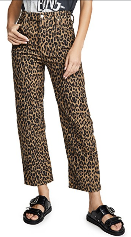 Levi's Ribcage Straight Ankle Jeans - LEOPARD