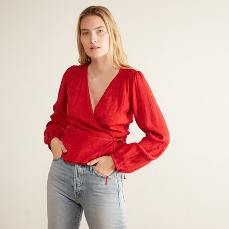 Lacausa Onyx Wrap Top - Mustang