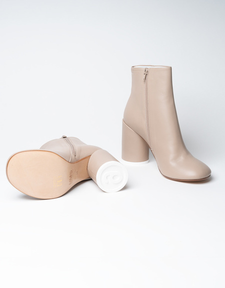 Mm6 Maison Margiela 6 Heel Leather Boots - Nude