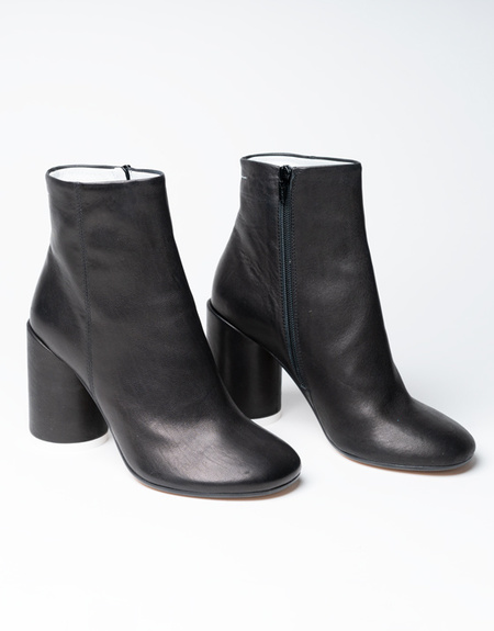 MM6 Maison Margiela 6 Heel Leather Boots - Black