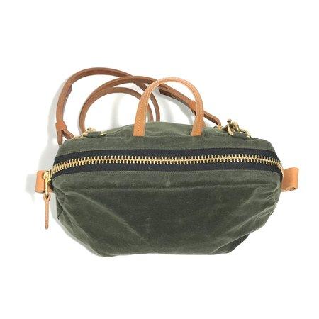Hoi Bo Wet Wax Mini Bag - Olive/Natural