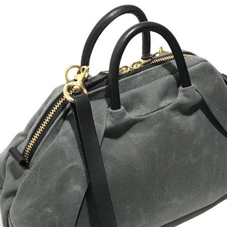 Hoi Bo Wet Wax Pleat Bag - Grey/Black