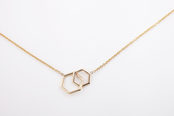 hortense jewelry hortense together hexagon necklace garmentory 8293