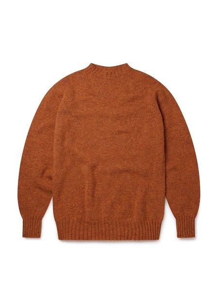 ALBAM Seamless Raglan Shetland Sweater - Rust