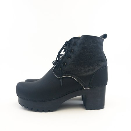No.6 Lander Lace-Up Boot - black