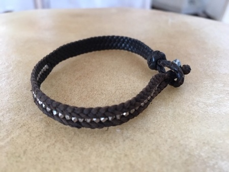 Ishi Leather And Silver Bracelet
