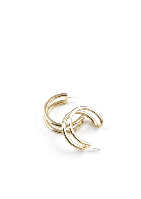 Tiro Tiro Gemini Earrings - Brass