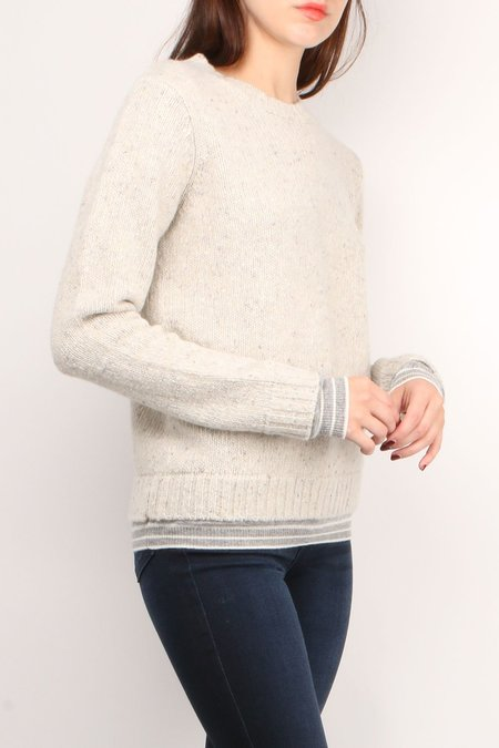 Majestic Filatures Wool Cashmere long sleeve Crew - Brume Chine