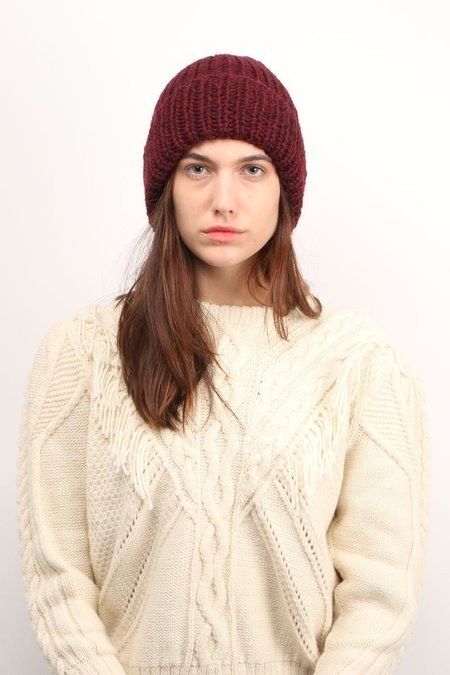 KARAKORAM ACCESSORIES Knit Beanie - Burgundy