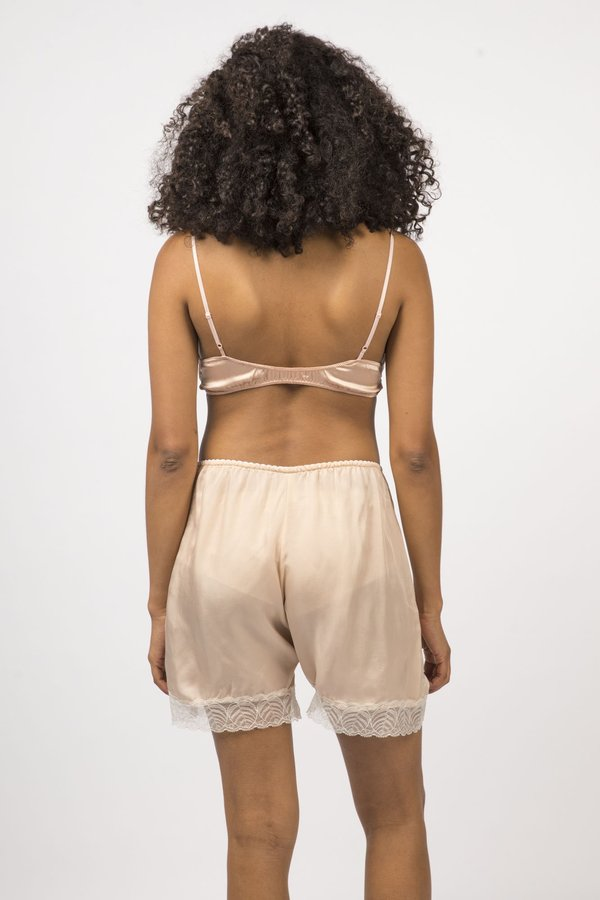 Botanica Workshop Cupro Vegan Silk Billie Midi Shorts - Rosato