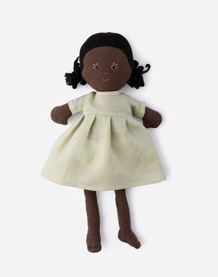 Kids Hazel Village Ada Doll - Dewdrop Linen Dress