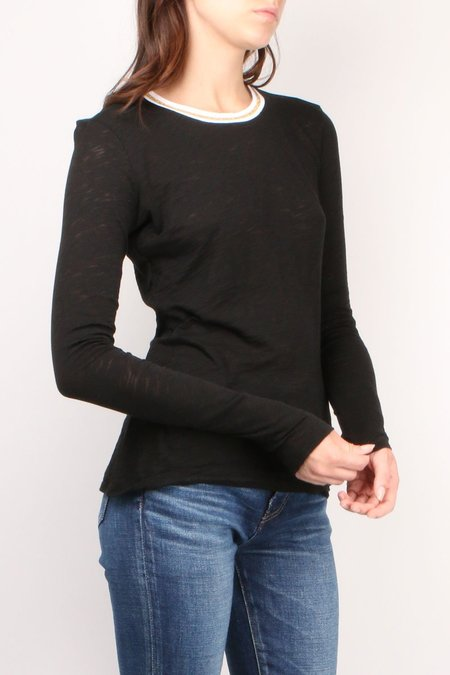 GOLDIE Long sleeve Tipped Tee - Black/Gold
