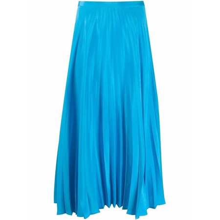 Chinti and Parker Pleated Skirt - Turquoise