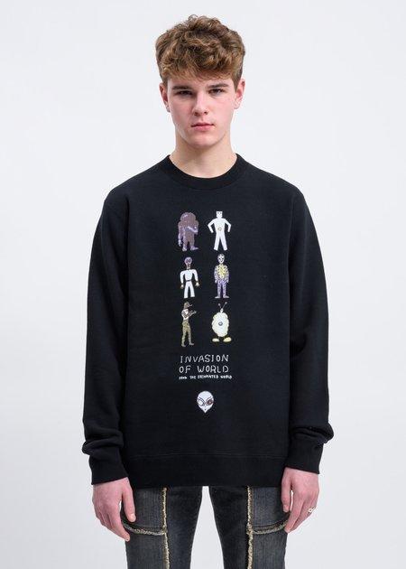 JohnUNDERCOVER Invasion Of World Sweater - Black