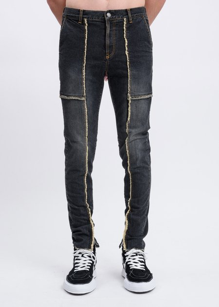 JohnUNDERCOVER Patchwork Skinny Jeans - Black