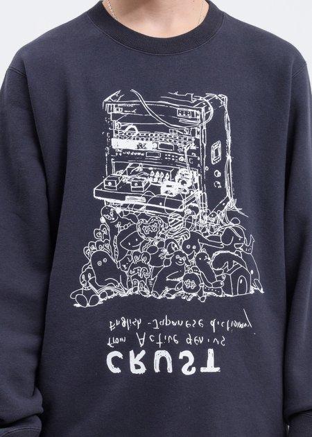 JohnUNDERCOVER Crust Sweater - Dark Charcoal