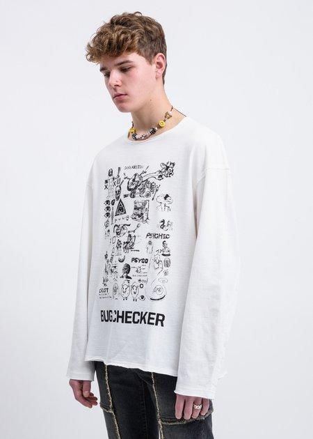 JohnUNDERCOVER Bug Checker Sweater - Off White