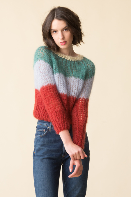 Maiami Maimi Short Sweater - Jade/Vanilla