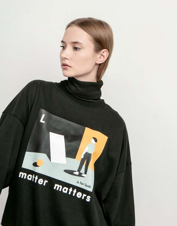 MATTER MATTERS The L is for Look sweatshirt - Black