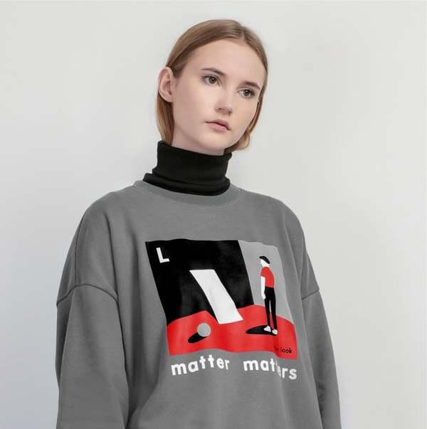 MATTER MATTERS The L is for Look sweatshirt - Grey