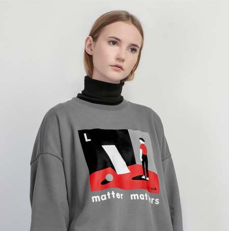 MATTER MATTERS The L is for Look sweatshirt - Grey