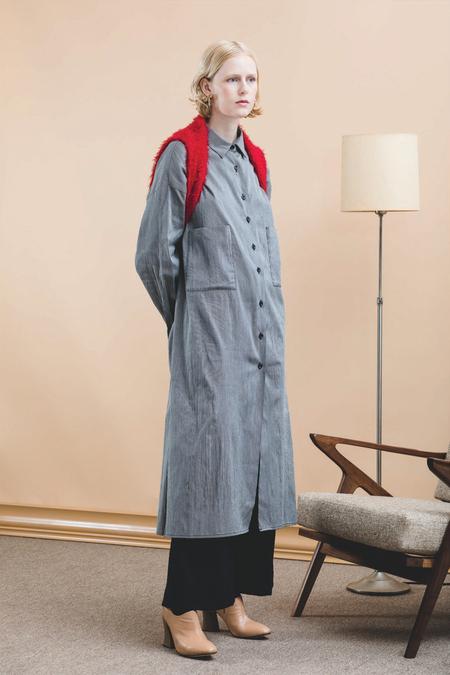 Toit Volant Nobu Dress - Grey Stripes