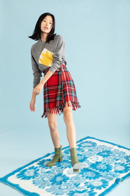 Carleen Rose Wrap Skirt - Vintage Blanket