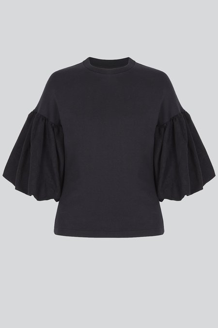 Mother of Pearl Aubree Top - Black