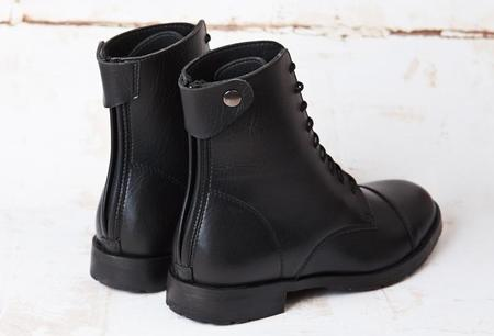 Unisex GOOD GUYS DON'T WEAR LEATHER The Noridor Vegan Leather Riding Boots - BLACK