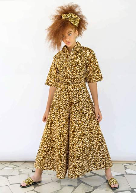 Yevu Button Down Shirt - Leopard