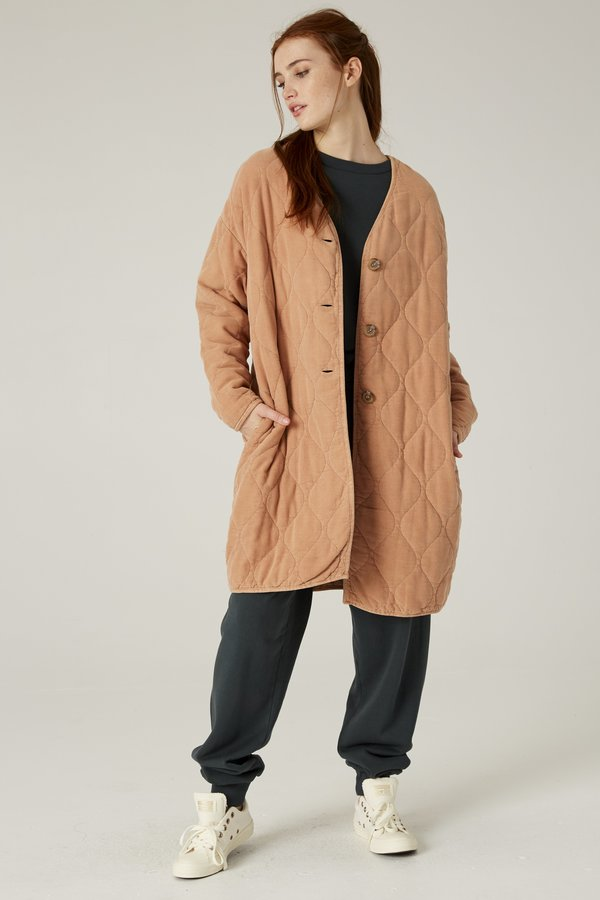 Filosofia Brooklyn Quilted Coat - Sandy Brown