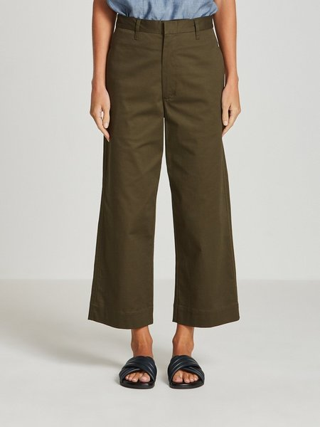 Bassike High Rise Tailored Pant - Military