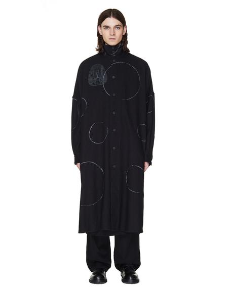Yohji Yamamoto Printed Wool Shirt - Black