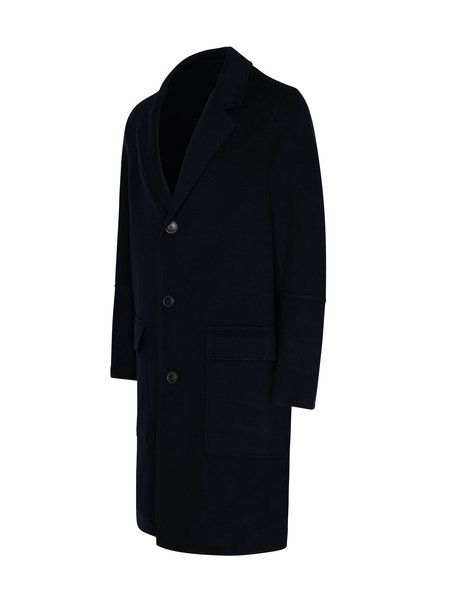AMI Three Buttons Patched Pockets Unlined Coat